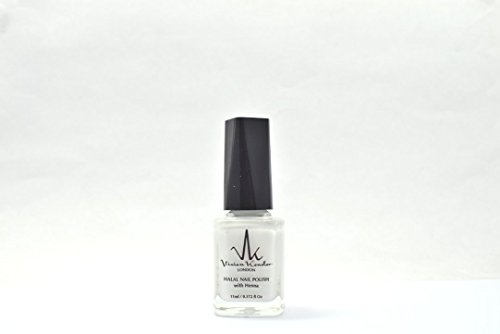 Vivien Kondor Henna Halal Permeable Nail Polish Ha04 Pure White 11 ml