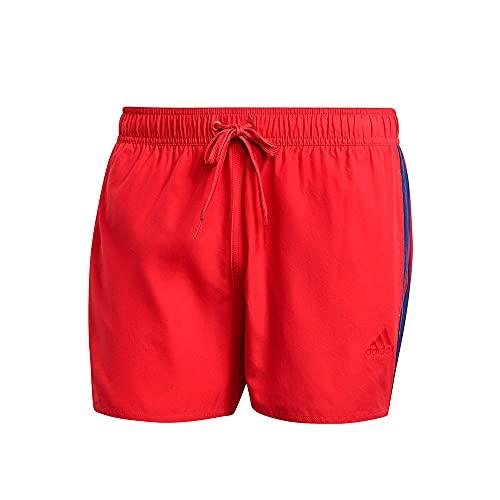 adidas 3s Clx Sh Vsl Costume da Bagno da Uomo, Uomo, Costume da Bagno, GQ1098, Rosso/Blu (Rojglo/Azmatr), L