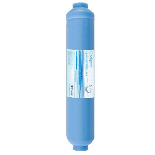 """Geekpure Cartucho de filtro de agua de repuesto TDS de 10 pulgadas en línea de desionización DI hasta 0 para sistema RO -1/4 """"hilo"""