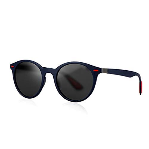 Hengtaichang Sunglasses UV400 Polarized Sunglasses Men Driver Shades Male Vintage Sun Glasses For Women Round Sunglasses Glasse Oculos Lunette De Soleil P4296 Blue Red