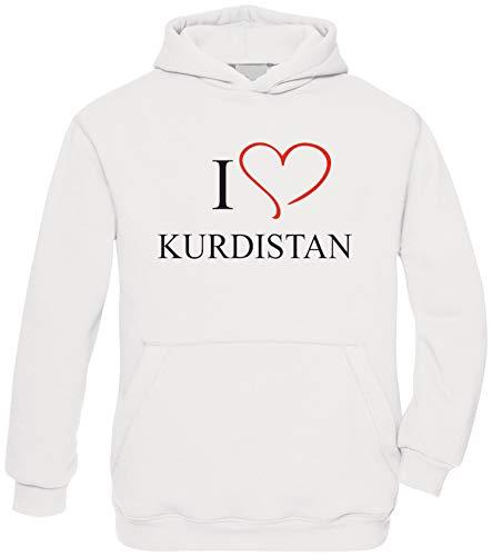 Ya Hero Ya Mero I Love Kurdistan Hoodie Kapuzenpullover Pullover (L)