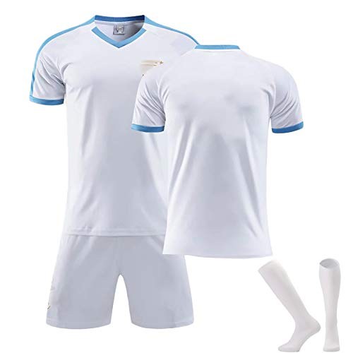 ZYWCXM Hombre Uruguay Football Jersey, Suárez 9 Cavani 21 Jersey, 2020~2021 Camiseta (lejos), Chándal de fútbol para Leiseure and Sports Daily, Regalo para los fanáticos White-20