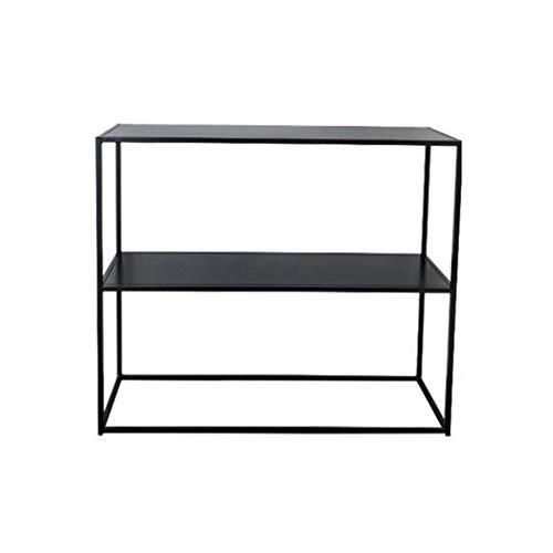 Regale Stauraum Lagerregal Küchenregal Schwarz Einfaches Arbeitszimmer-Deko Wohnzimmer-Kreativregal (Color : Black, Size : 25 * 60 * 60cm)