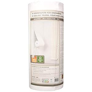 SAD 8108 Aislamiento debajo del papel pintado Isorol Rollo 0,5 x 10 m de espesor 4 mm, claro