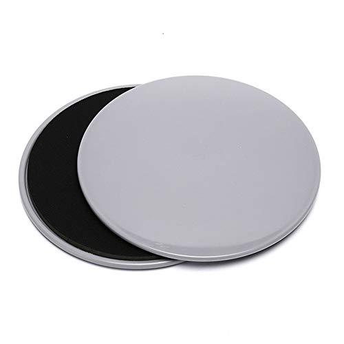 Xinrongqu 2PCS Fitness Yoga Disc, Ejercicio Sliding Plate Gliding Discs Slider para Yoga Gym Core Training Equipment Equipment,Gris