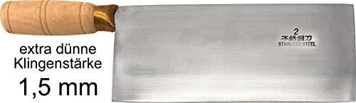 JADE TEMPLE Hackmesser mit Holzgriff, stainless steel, 21 cm lange Klinge, 1 x Hackmesser