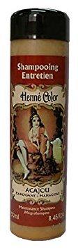 Shampoing au henné, au henné, acajou (Acajou), 250 ml