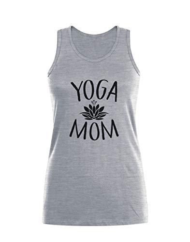 Camiseta sin Mangas para Mujer - Yoga Mom - Idea Regalo Mamá Medium Gris