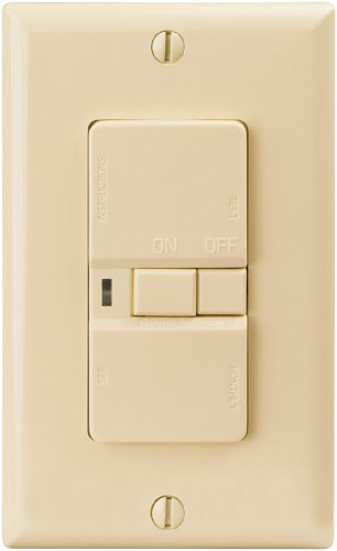 EATON Wiring VGFD20V-L 20-Amp Specification Grade Blank Face Ground Fault Circuit Interrupter Receptacle, Ivory