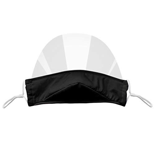 Staresen 4 Stück Kinder Transparente Offene Gesichtsschutz Half Face Visier Kunststoff Klarer Face Shield Elastisch Komfortabel Tragender Mundschutz Wiederverwendbarer Sicherheitsgesichtsschutz