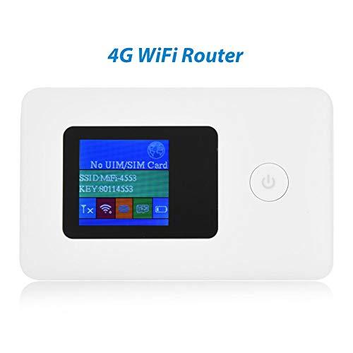 Tosuny 4G WiFi-router mobiele, draagbare hotspot met simkaartsleuf, 50 Mbit / s gegevensoverdracht wit
