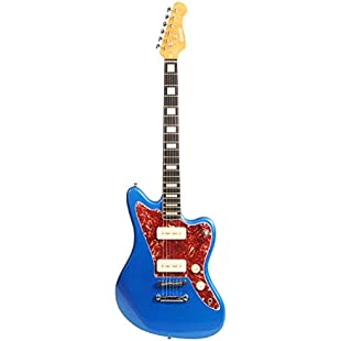 Blue Denver by QUINCY 6 String ELECTRIC GUITAR Jazzmaster Jaguar Style P90:Viralinfo