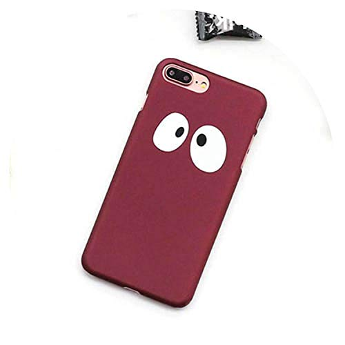 Carcasa para iPhone 5, 5S, SE, 6, 6S, 7, 8 Plus, color rojo