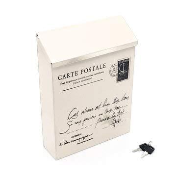 MASUNN Waterdichte Outdoor Metalen Post Box Brievenbus Muur gemonteerd Afsluitbaar 2 Keys Mail Box, Kleur: wit, 1
