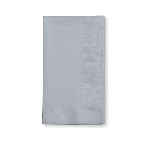 Creative Converting Touch of Color 100 Count 2-Ply Paper Dinner Napkins, Shimmering Silver - 273281