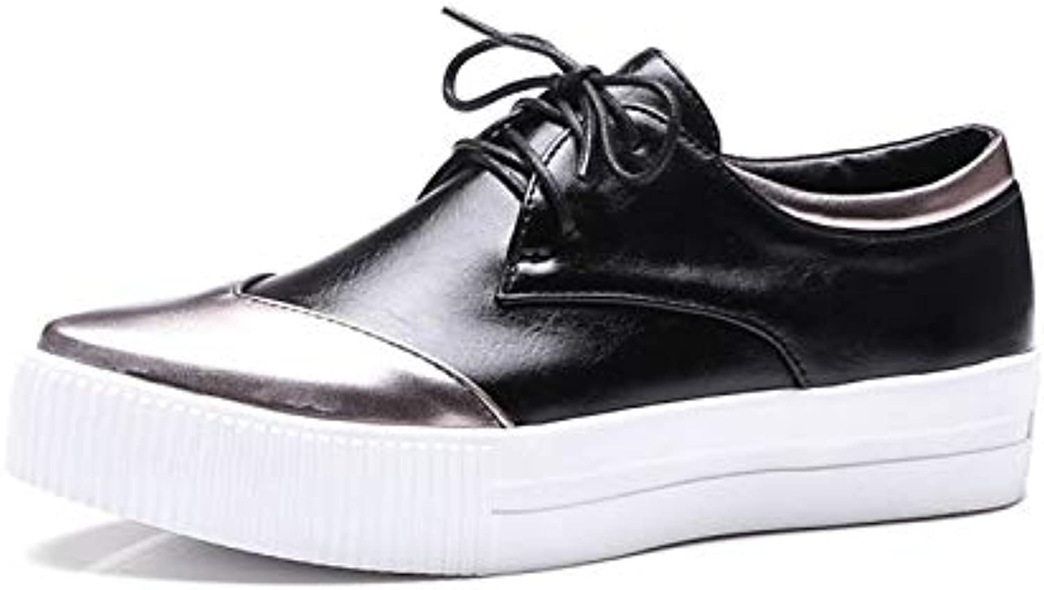 Women's Tassel shoes PU(Polyurethane) Spring & Summer Sneakers Platform Pointed Toe White Black   Party & Evening