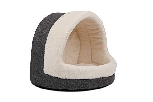 TrendPet LunaHome Kuschelhöhle für Hunde und Katzen und grau und beige (Beige)