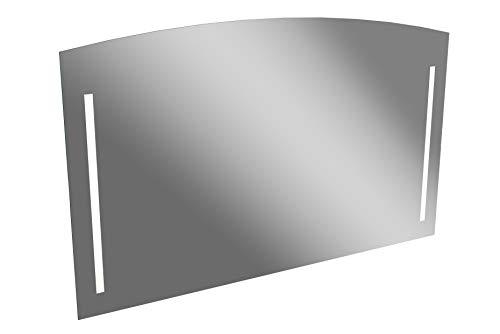 Lanzet LED Spiegel S2.2 / Wandspiegel mit indirekter LED Beleuchtung/Maße (B x H x T): ca. 120 x 72 x 3 cm/Spiegel fürs Badezimmer/Badspiegel mit Abgerundeter Oberkante und Beleuchtung