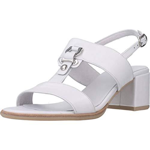 Sandalo da Donna NeroGiardini in Pelle Bianco E012264D. Scarpa dal Design Raffinato. Collezione Primavera Estate 2020. EU 39