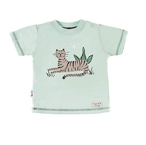 Tiger Baby T-Shirt - Jungen Mädchen Unisex - Pastell Grün - Baumwolle - Größe 86