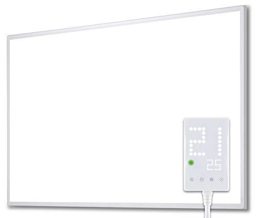 Heidenfeld Infrarotheizung HF-HP100 600 Watt Weiß - 10 Jahre Garantie - inkl. Thermostat - Deutsche Qualitätsmarke - TÜV GS - Für 8-16 m² (HF-HP100 600 Watt)