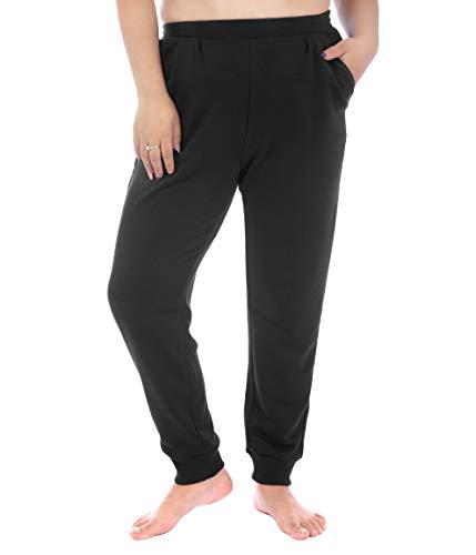 ZERDOCEAN Women's Plus Size Sweatpants Jogger Pants Active Pant with Pockets Black 4X