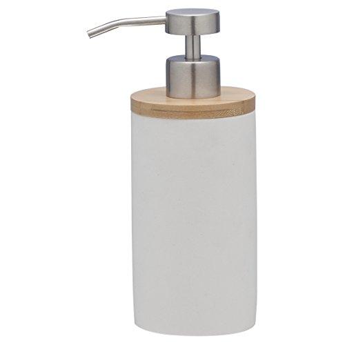 Sealskin 361910210 Seifenspender Grace, Polyresin, Farbe: Weiß