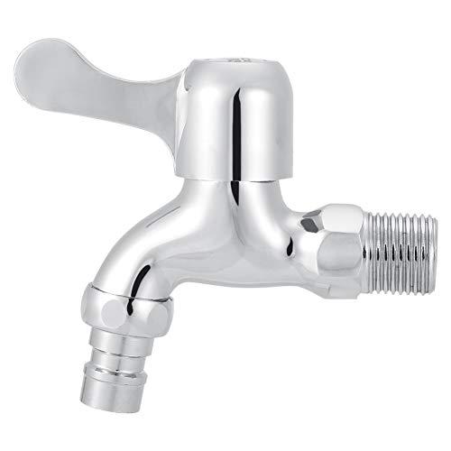 Grifo de Agua Reino Unido G1 / 2'Niquelado Lavadero Cuarto de baño Lavadora Montado en la Pared Grifo de Agua Grifo Individual