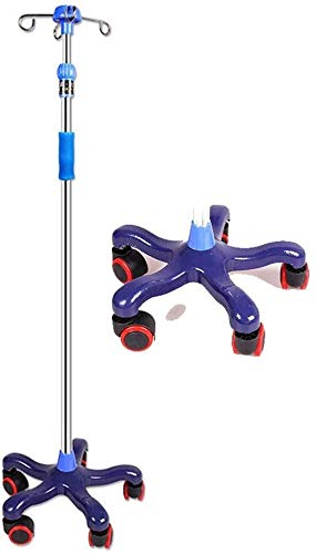Drip rack Stand, in hoogte verstelbaar, Rolling IV Pole, Wheel Casters en 4 Prongs To Hold IV, tassen en in hoogte verstelbaar is van 43 tot 75 inch Dragen Fles Hanger (Size : 5 Legs)