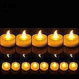 DISOK - Velas Led Decoración Pequeñas Velitas Decorativas Pilas Incluidas Baratas (Sin Cera, Ni Humo) - Decoración de...
