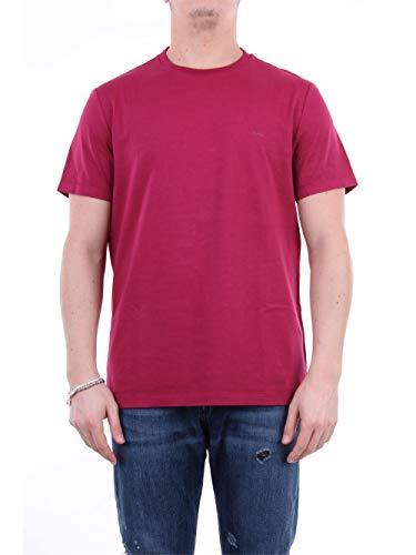 Michael Kors CR95HXC7TA - Camiseta de manga corta para hombre rojo cereza L