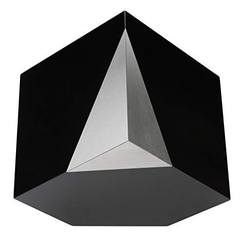 unique.urns_caskets Urne funéraire géométrique Moderne pour Cendres Adultes Art31DM, Bois et céramique, Noir