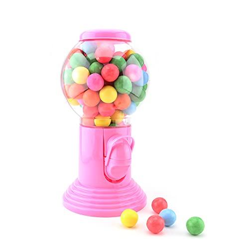 Kaugummispender / Kaugummiautomat mit Kaugummis - pink - wiederbefüllbar - 20 cm & 300 g
