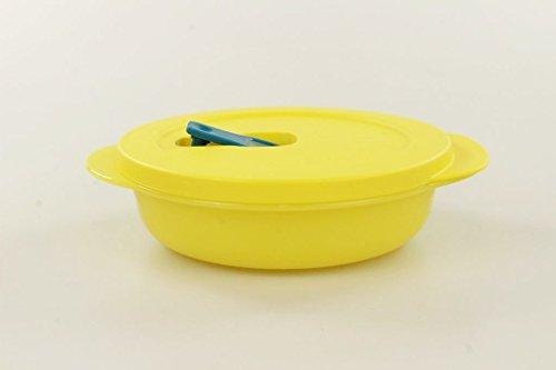 Tupperware - Contenitore per microonde CrystalWave Plus Fix da 400ml, colore giallo, 18862