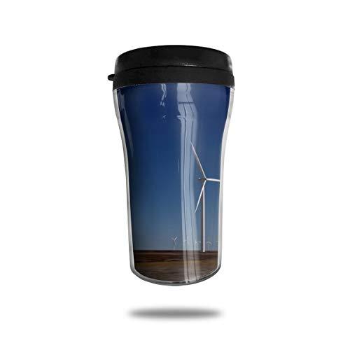 OUYouDeFangA - Tazza da caffè da Viaggio, Motivo: Dune di Sabbia e Dune di Sabbia, con Stampa 3D, Portatile sottovuoto, per Bere con Coperchio, 250 ml