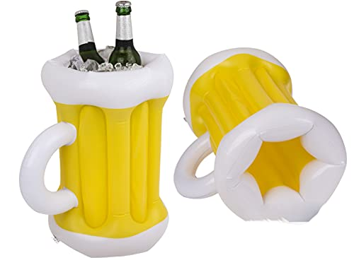 CH Handel Refrigeratore per bevande, da giardino, refrigeratore per birra, palma, per esterni, per vino, feste, piscina, portabibite, versione: boccale di birra