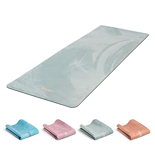 FLXBL Yoga Luxus Yogamatte waschbar, dünn, leicht und faltbar für Reise - 100% vegan