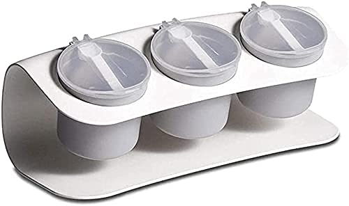 Kruiden box set witte kruiden opbergdoos lepel seizoen doos PP Materiaal kruidendoos Kruiden potten WSYGHP