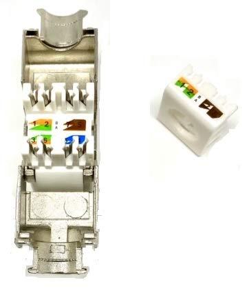 Platinum Connector CAT7 RJ45 Tool-Less FTP Keystone Jack 10pcs (CAT7 Keystone FTP)