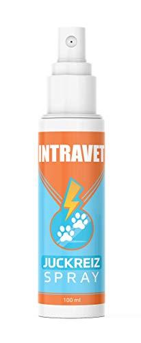 Saint Nutrition Intravet - Juckreiz Spray für Haustiere, Naturprodukt & HOCHWIRKSAM bei Juckreiz oder Entzündungen - Pflegt Haut & Fell bei Läuse, Flöhe oder Milben, acuh Grasmilben bei Katze & Hund
