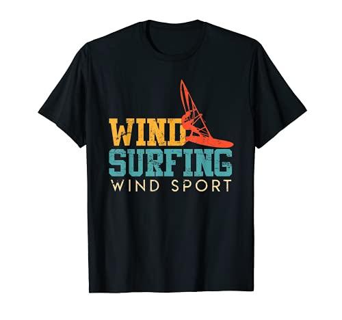 Wind Sport Windsurfer Regalo Vintage Retro Surfer Camiseta