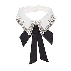 Crystal Rhinestone Fake Collar Detachable Lapel