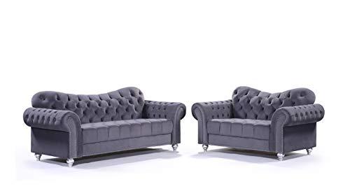 Honeypot - Sofa - Jubilee - 3 Seater - 2 Seater - Large Corner - Grey (3+2 Seater)