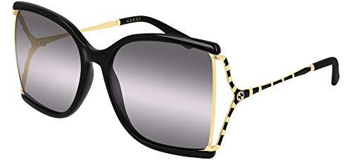 Gucci Gafas de Sol GG0592S Black/Grey Shaded 60/18/130 mujer