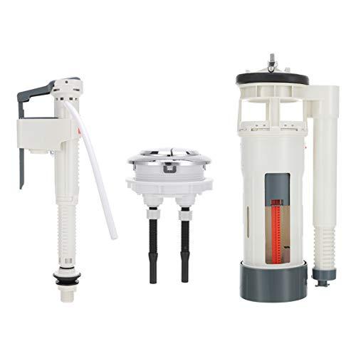 Toyvian El kit de reparación de válvula de descarga convierte las piezas estándar del tanque de inodoro en accesorios de repuesto de mango de inodoro de ahorro de agua eficiente