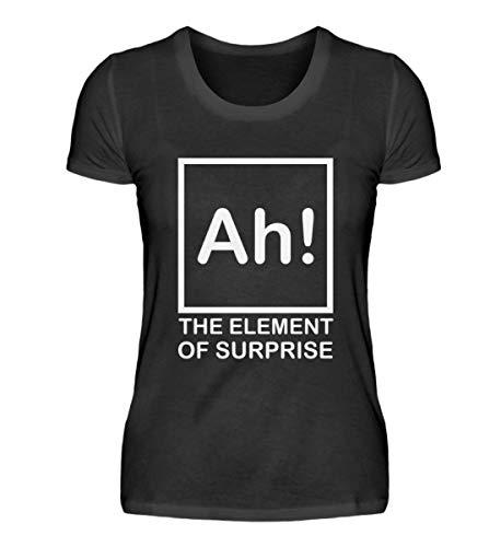 Fórmula química Ah – Camiseta para profesores químicos, escuela, ciencia, regalo, divertida frases Cool – Camiseta para mujer Negro L