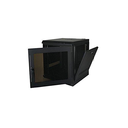 Quest Verarbeitung Serie 100& 200Wand Gehäuse, schwarz Abnehmbare Seitenverkleidungen (9U) 20in deep schwarz