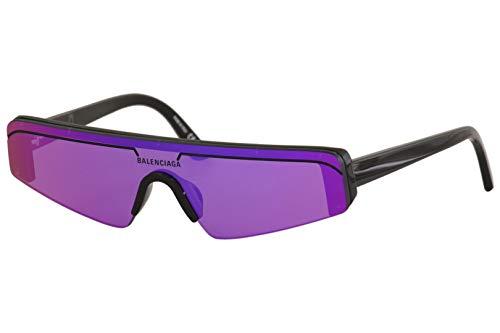 Balenciaga Sonnenbrillen BB0003S 003 schwarz lila Größe 99 mm Brillen unisex
