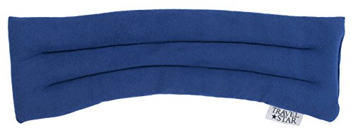 travelstar: erwärmbares Nackenkissen mit Buchweizen und Lavendel, blau (TS-L-1001)