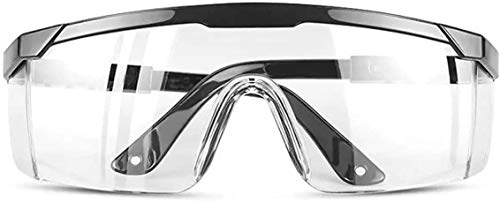 Protective Safety Glasses with Clear Lenses Splash Windproof Dustproof Goggles UV Protected Light Weight Wrap Around Glasses